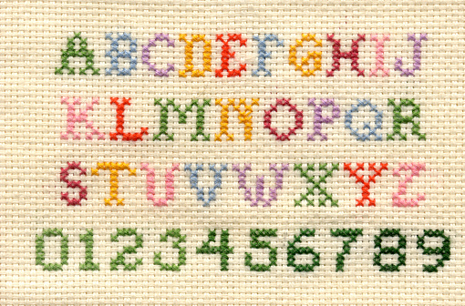 Thread - Sewing Item「cross-stitch alphabet and numbers」:スマホ壁紙(4)
