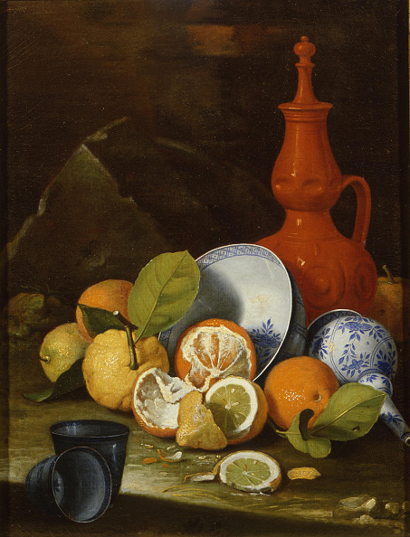 静物「Bucchero, porcelain, oranges and lemons, 1706」:写真・画像(19)[壁紙.com]