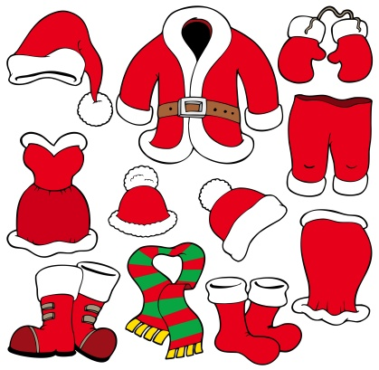 Belt「Various Santa Claus clothes - isolated illustration.」:スマホ壁紙(6)