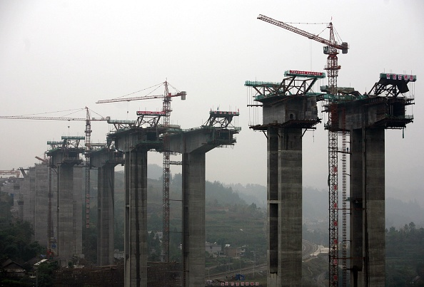 Built Structure「Construction Work Continues On Yuxiang Highway In Chongqing」:写真・画像(6)[壁紙.com]