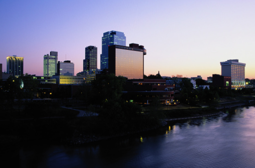 Arkansas River「Little Rock Skyline at Dusk」:スマホ壁紙(9)