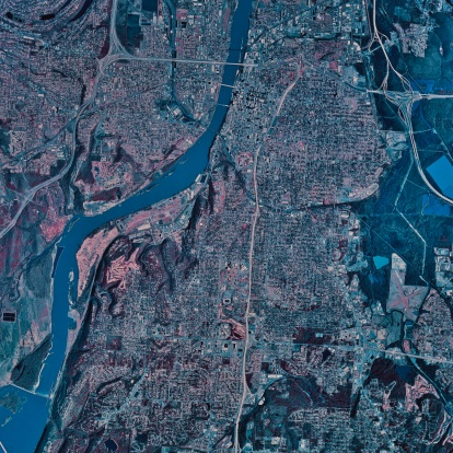 "Little Rock - Arkansas「""Little Rock, Arkansas, satellite image""」:スマホ壁紙(14)"