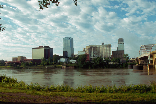 Arkansas River「Little Rock and the Arkansas River」:スマホ壁紙(3)