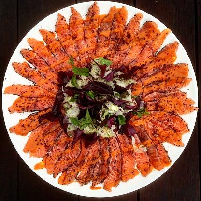 Vinaigrette Dressing「Marinated salmon with sumac and spicy tahini vinaigrette」:スマホ壁紙(8)