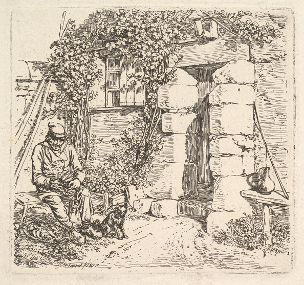 Etching「The Old Man And His Pomeranian Dog」:写真・画像(9)[壁紙.com]