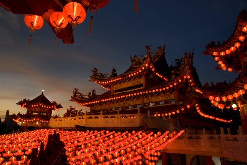 Thean Hou Temple「Chinese Temple - Evening scene」:スマホ壁紙(2)