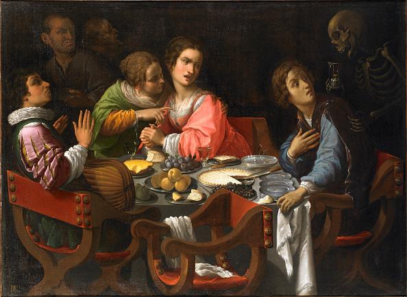 絵「Death Comes To The Banquet Table (Memento Mori)」:写真・画像(10)[壁紙.com]
