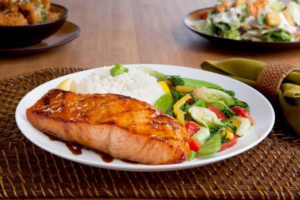 Miso Salmon Dinner:スマホ壁紙(壁紙.com)