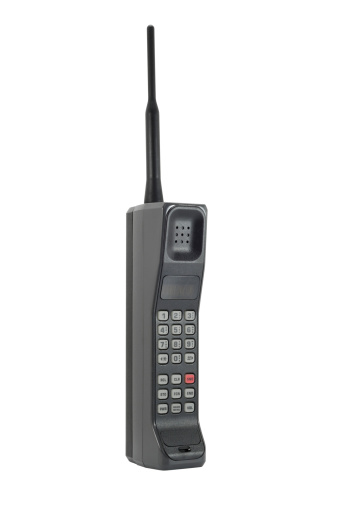 1980-1989「Classic Mobile Phone - Isolated with Clipping Path」:スマホ壁紙(16)