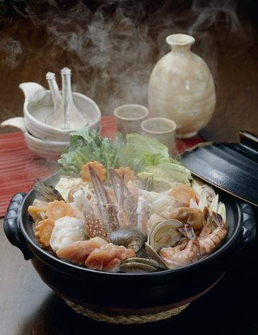 Sake「Nabe (Hot pot) with seafood and vegetables」:スマホ壁紙(8)