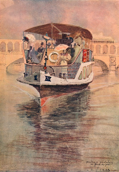 Tourboat「'Bateau-Parisien at the Point du Jour', 1915. Artist: Charles Jouas.」:写真・画像(2)[壁紙.com]