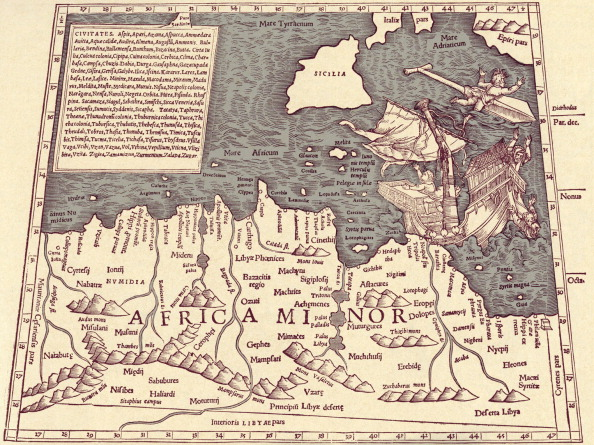 Continent - Geographic Area「Africa Minor - map in Ptolemy 's 'Geographia Universalis'」:写真・画像(6)[壁紙.com]