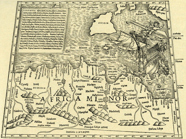 Continent - Geographic Area「Africa Minor - map in Ptolemy 's 'Geographia Universalis'」:写真・画像(2)[壁紙.com]