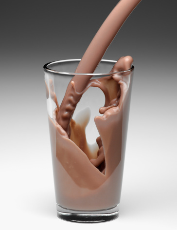 Pouring「Chocolate milk being poured into glass」:スマホ壁紙(11)