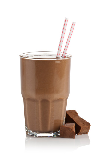 Protein「Chocolate milk shake smoothie on white background」:スマホ壁紙(16)