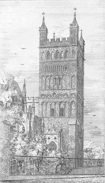 Circa 15th Century「Tower Of North Transept Exeter Cathedral」:写真・画像(13)[壁紙.com]