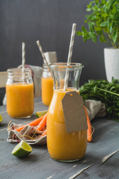 Carrot Smoothie with limette:スマホ壁紙(壁紙.com)