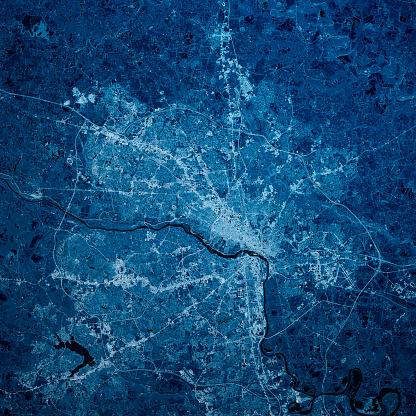 Richmond - Virginia「Richmond Virginia 3D Render Blue Top View Mar 2019」:スマホ壁紙(5)