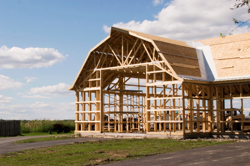 Agricultural Building「New Barn Construction」:スマホ壁紙(1)