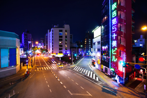 Dividing Line - Road Marking「Fukuoka at Night」:スマホ壁紙(7)