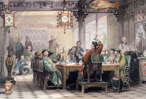 Party - Social Event「Dinner Party At A Mandarin's House' China 1843」:写真・画像(5)[壁紙.com]