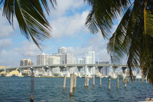 Frond「Remnants of pier and skyline of Miami, Florida」:スマホ壁紙(13)