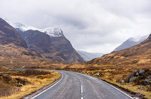Winding Road「Entering Glencoe in Scotland」:スマホ壁紙(7)
