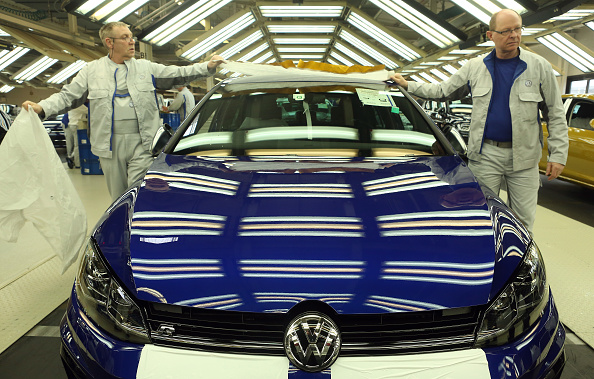 Wolfsburg - Lower Saxony「Car Production At Volkswagen Wolfsburg Plant」:写真・画像(1)[壁紙.com]