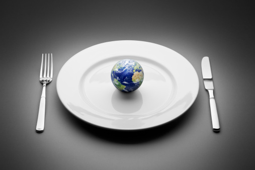 Feeding「Earth served on plate. Food Globe Planet World Restaurant」:スマホ壁紙(16)