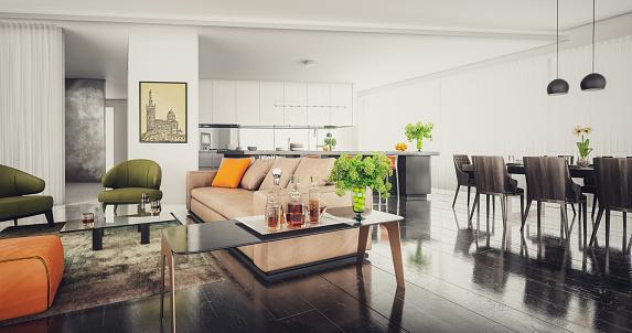 Stool「Modern Loft Apartment Interior (Toned Image)」:スマホ壁紙(16)