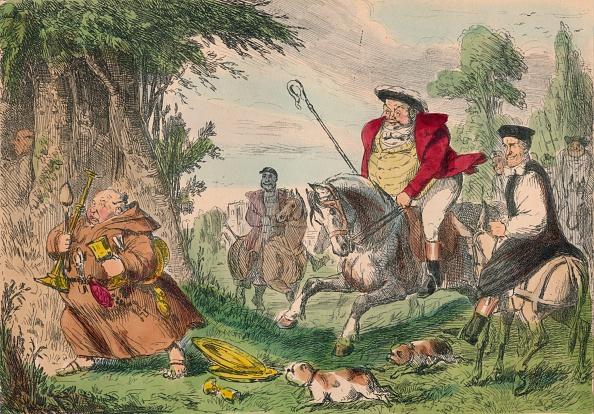 King - Royal Person「Henry VIII Monk Hunting, 1850. Artist: John Leech」:写真・画像(9)[壁紙.com]
