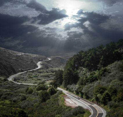 California State Route 1「Dramatic Sky and Winding Road」:スマホ壁紙(12)