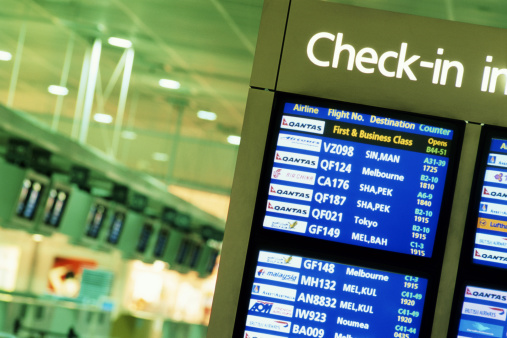 Airport Check-in Counter「Check-in sign at airport」:スマホ壁紙(16)