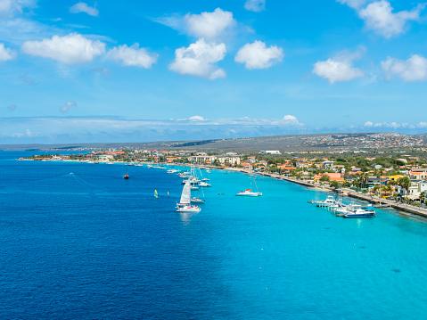 Central America「Caribbean, Bonaire, Kralendijk, coast and townscape」:スマホ壁紙(19)