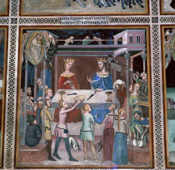 San Gimignano「Fresco of the story of Job, 14th century.」:写真・画像(13)[壁紙.com]