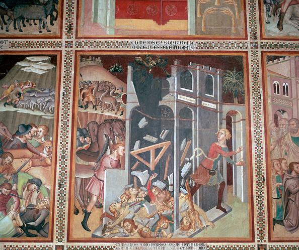 San Gimignano「Fresco of the destruction of Jericho, 14th century.」:写真・画像(5)[壁紙.com]