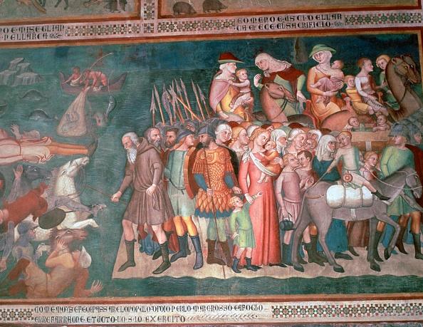 San Gimignano「Fresco of the Israelites crossing the Red Sea, 14th century. Artist: Bartolo di Fredi」:写真・画像(10)[壁紙.com]