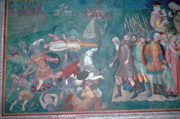 San Gimignano「Fresco of the Israelites crossing the Red Sea, 14th century. Artist: Bartolo di Fredi」:写真・画像(11)[壁紙.com]