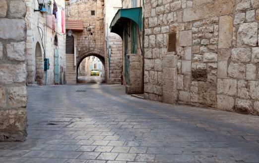 Bethlehem - West Bank「city street and stone buildings on Star Street in Bethlehem」:スマホ壁紙(5)