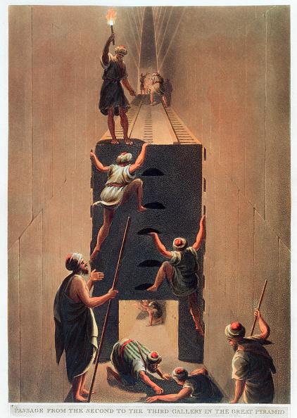 世界遺産「Passage From The Second To The Third Gallery In The Great Pyramid' Giza Egypt 1802」:写真・画像(19)[壁紙.com]