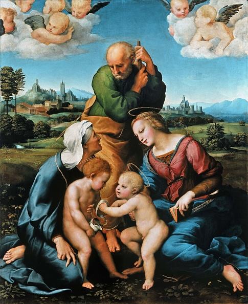 Painted Image「The Canigiani Holy Family (Sacra Famiglia Canigiani)」:写真・画像(14)[壁紙.com]