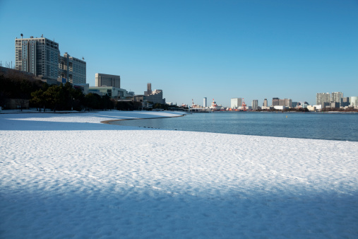 Bay of Water「Daiba beach where snow remains」:スマホ壁紙(12)