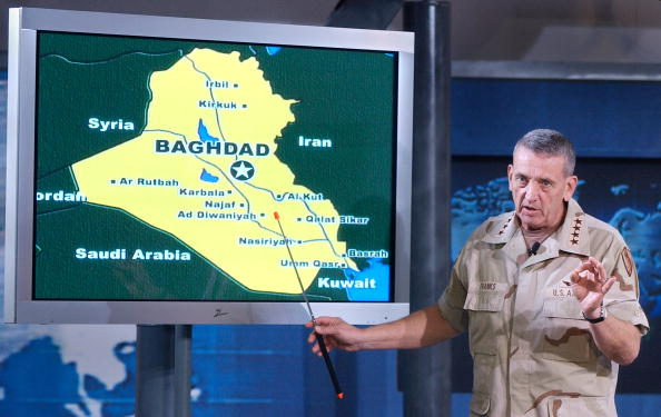 Carlo Allegri「General Franks Gives Media Briefing At Camp As Sayliyah」:写真・画像(3)[壁紙.com]