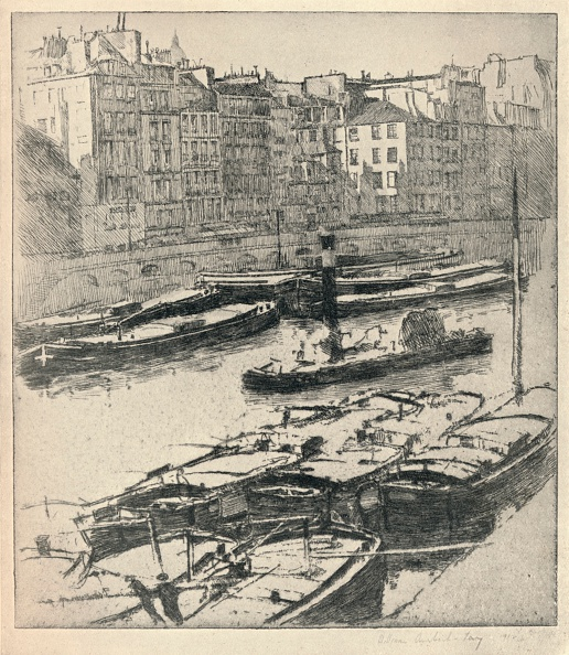 Physical Geography「'Quai des Grands Augustins', 1915. Artist: William A Levy.」:写真・画像(5)[壁紙.com]