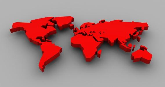 Digitally Generated Image「3D Red World」:スマホ壁紙(5)