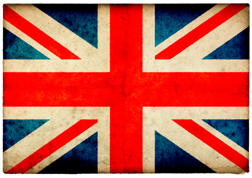 ユニオンジャック「グランジユニオンジャックの旗をラフなオールドポストカードエッジ」:スマホ壁紙(5)