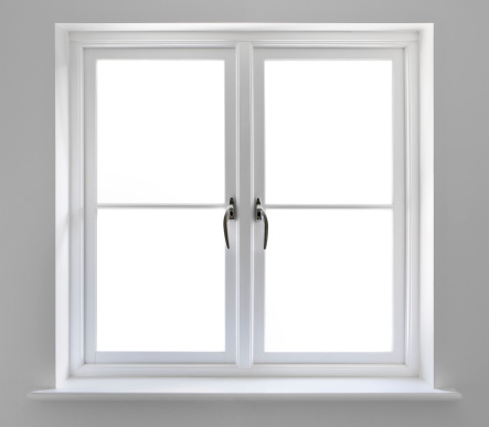 Looking Through Window「double white windows with clipping path」:スマホ壁紙(2)
