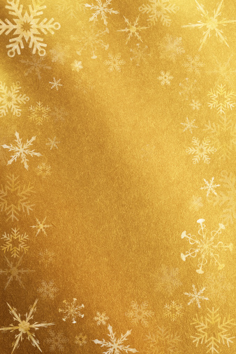 Gold「Gold Background With Snowflakes」:スマホ壁紙(4)