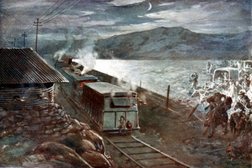 Battle「Train trying to pass through during Boer War, South Africa, 1899-1902」:スマホ壁紙(15)
