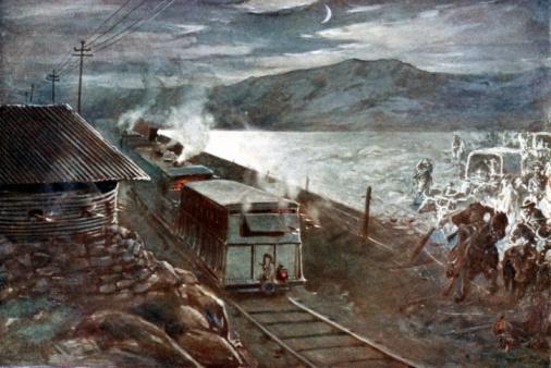 Battle「Train trying to pass through during Boer War, South Africa, 1899-1902」:スマホ壁紙(5)
